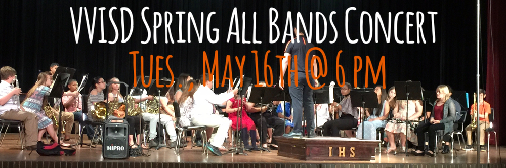 VVISD Spring All Bands Concert