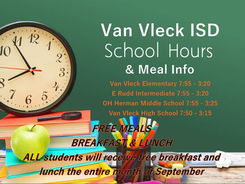 School Hours & Meal Info