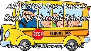 Bus Routes Back To Normal