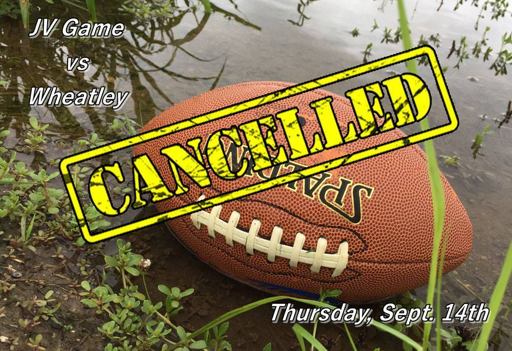 JV Football Cancelled Tonight