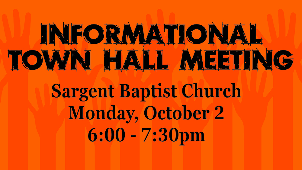 Town Hall Meeting Tonight