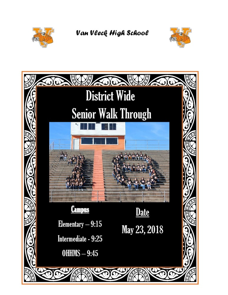 District Wide Senior Walk Through