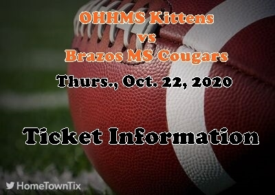 MIDDLE SCHOOL FOOTBALL TICKET INFORMATION FOR BRAZOS MS GAMES