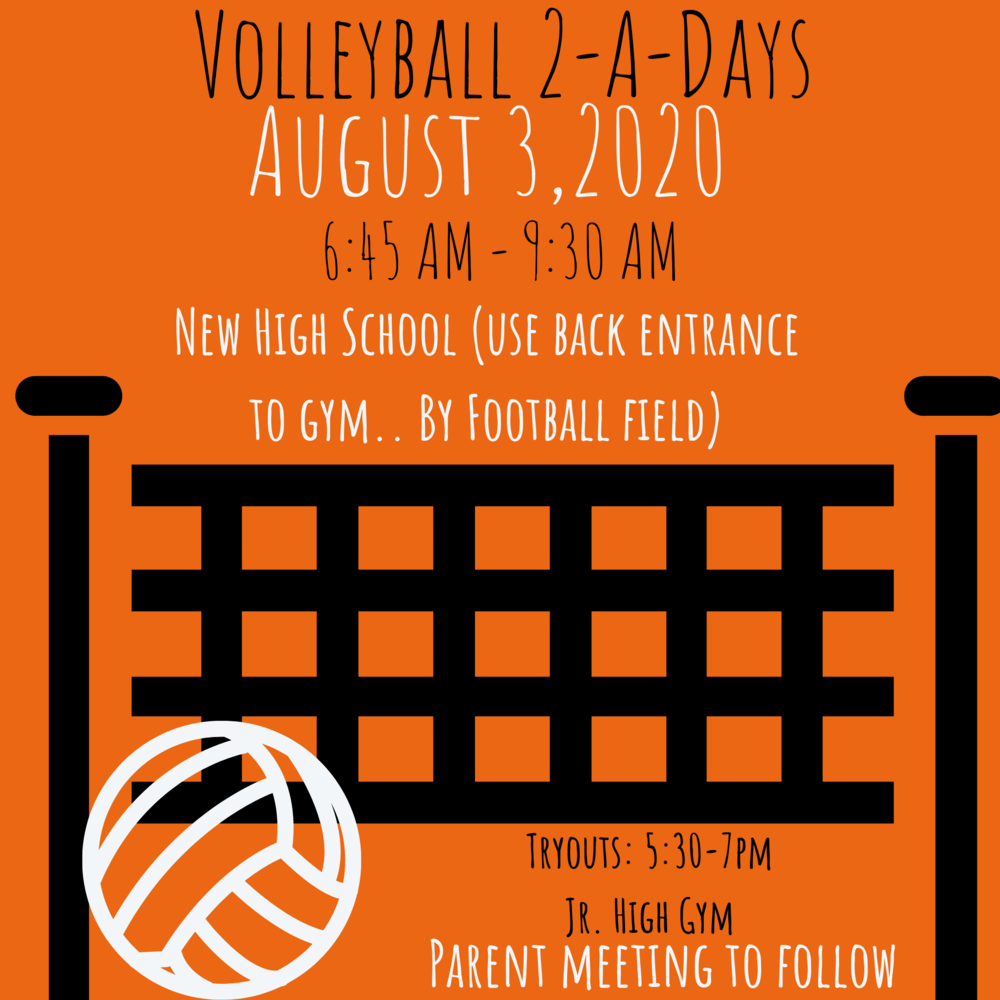 Volleyball Practice August 3, 2020