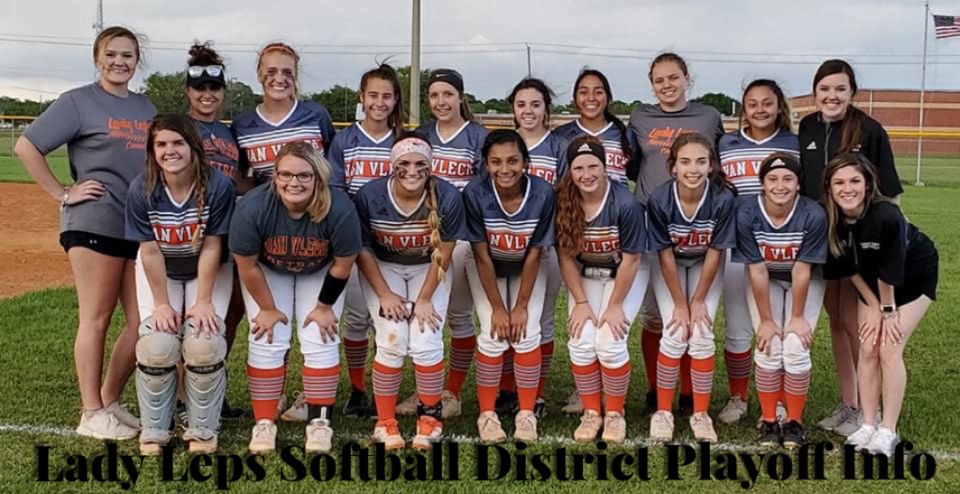 Lady Leps Softball District Playoff Info