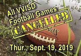 JH & JV Football Games Cancelled