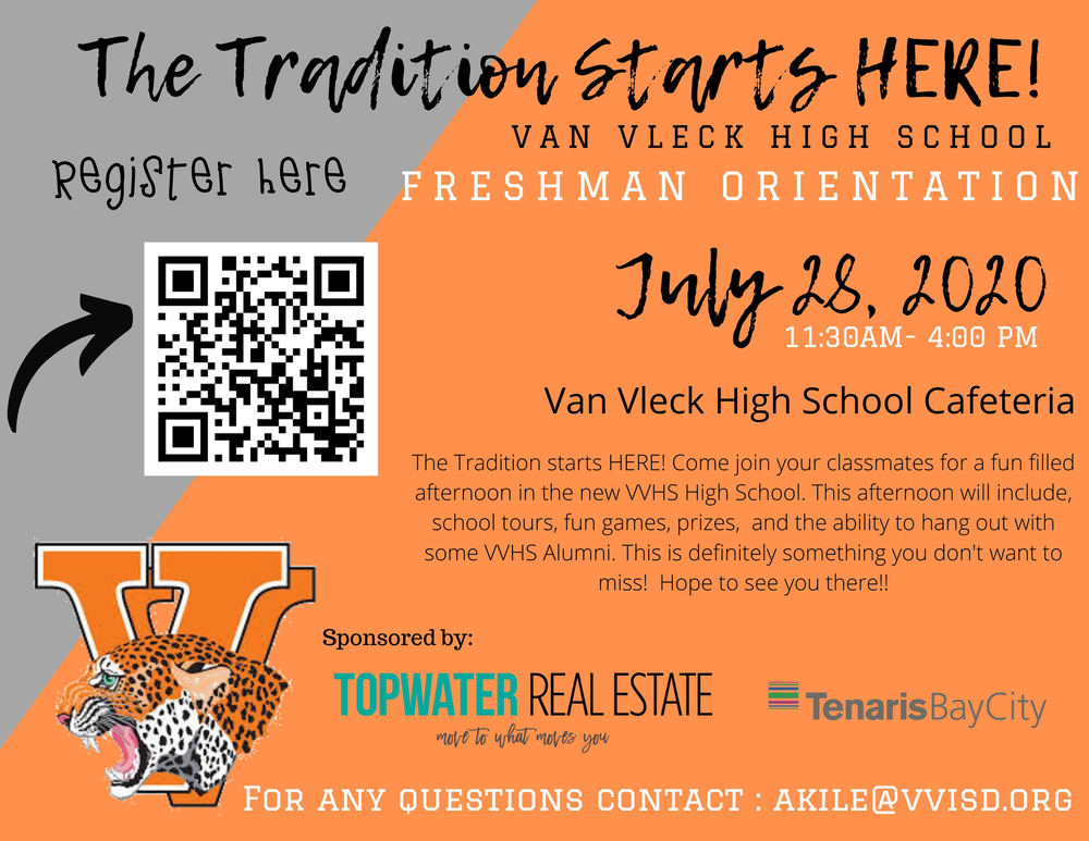 VVHS Freshman Orientation - July 28, 2020