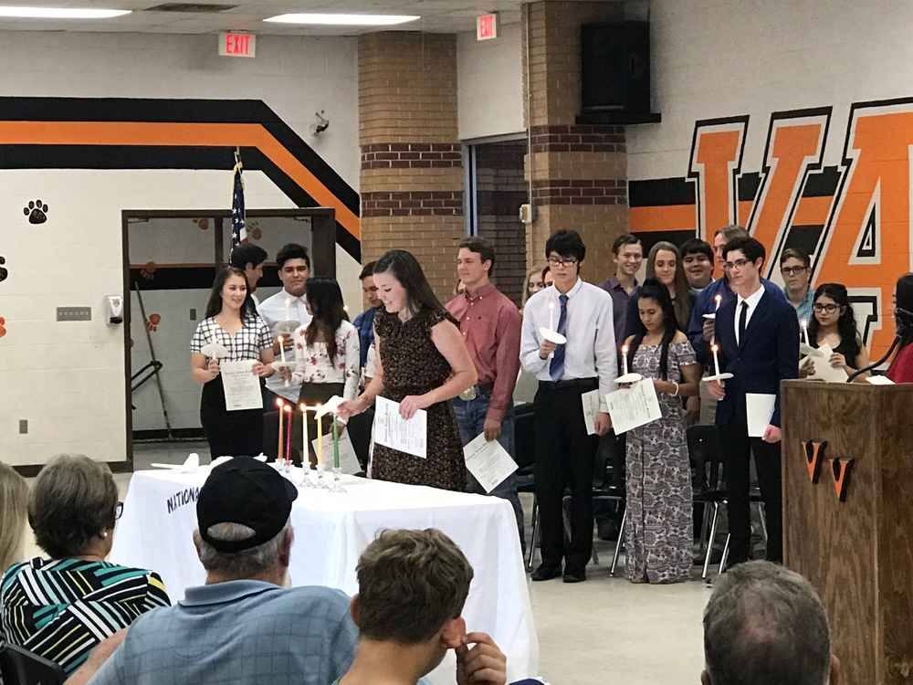 VVHS National Honor Society Inducts New Members