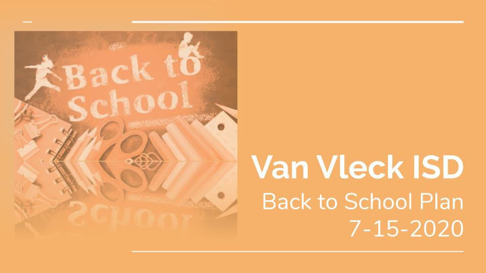 VVISD 2020-2021 Back to School Plan : At A Glance