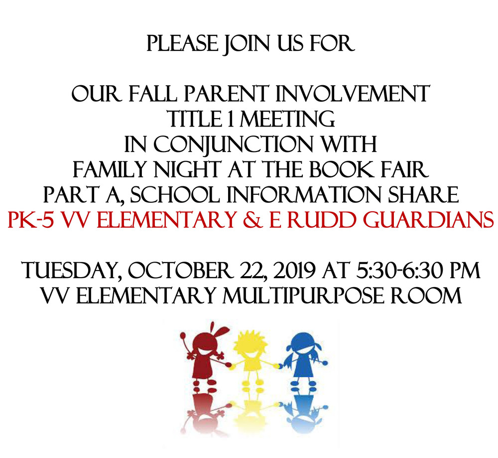 PK-5 Fall Parent Involvement Title I Meeting