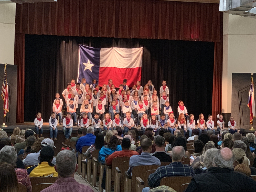 Van Vleck Elementary 2nd Grade did a great job this evening at their Texas Choir Program!