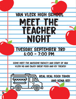 Attention all Van Vleck High School Parents/Guardians/Students/Staff - Meet the Teacher Night at VVHS is Next Tuesday, September 3, 2019 6-7pm