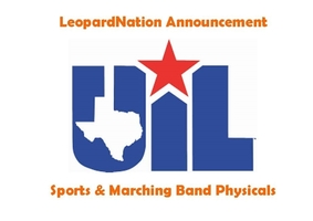 Sports & Marching Band Physical Info