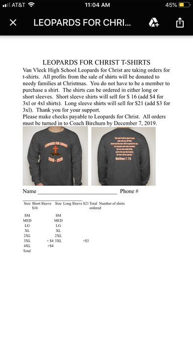 Order Your Leopards for Christ Shirt!