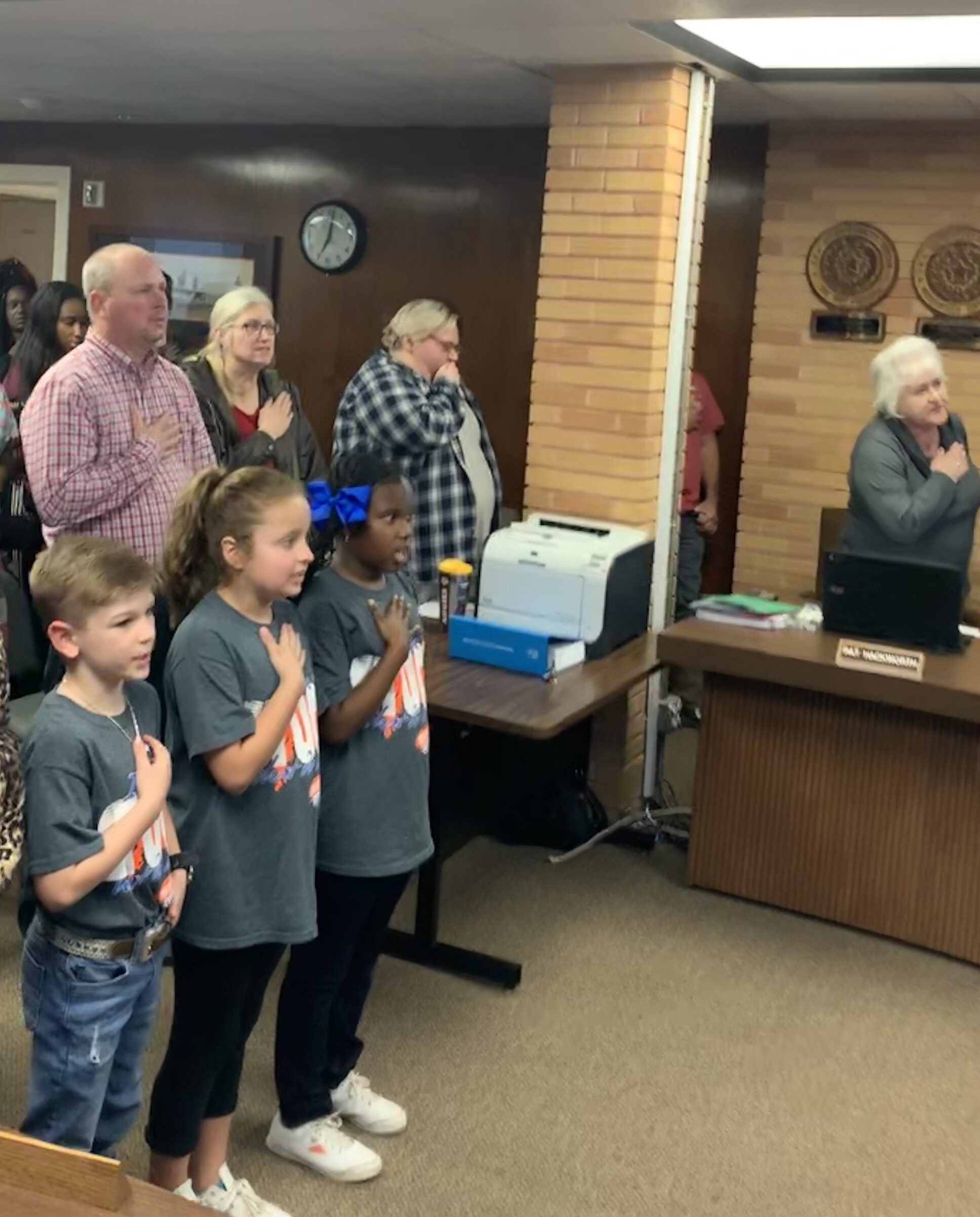 Several Leopard Luminaries honored at the Van Vleck ISD Monthly School Board Meeting - February 25, 2019